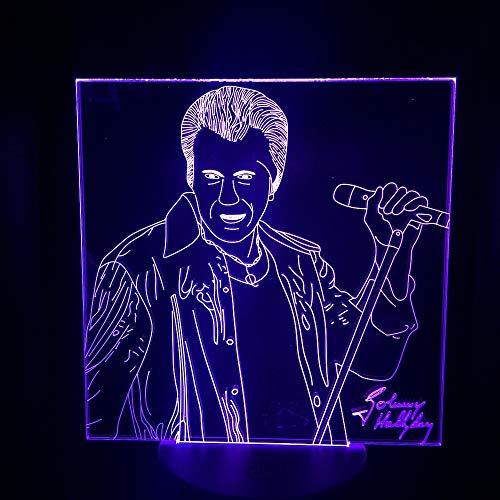 Nur 1 Stück Nachtlicht LED Touch Sensor Schlafzimmer Ation Lampe 7 Farbwechsel Festival Present Fans Tisch Nachtlampe 3D