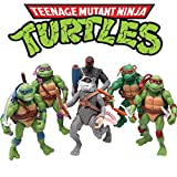 Ninjas 6 PCS Set - Mutant Turtles Action Figure - TMNT Action Figures - Toy Set Turtles Action Figures Mutant Teenage Set