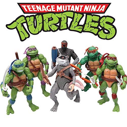 Ninjas 6 PCS Set - Mutant Turtles Action Figure - TMNT Action Figures - Toy Set Turtles Action Figures Mutant Teenage Set