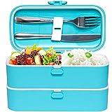 Veggycook Lunch Box Boîte à Repas bento Hermétique Couverts en Acier INOX Inclus...