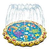 Spinning Baseball Sprinkler & Splash Sprinkler for Kids, (Upgraded 2020 Version) Outdoor Water Play Spray Mat Toys, Fun Backyard Fountain Play Mat, Learning & Sporting Water Mat Toys for Kids, Pet