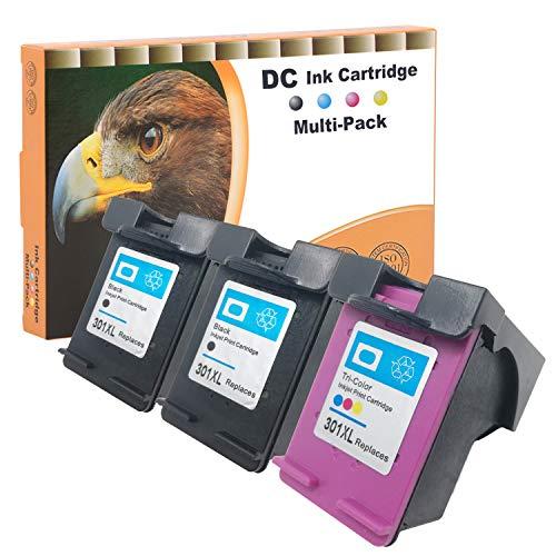D&C Cartuchos de impresora remanufacturados para HP 301 XL para HP DeskJet 1000 1050 2050 2050A 2540 3000 3050 3050A 3510 Envy 4500 4502 5530 OfficeJet 2620 4630 2 (2 unidades). negro + 1 color).