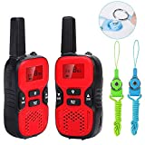 Waitiee walkie talkies bambini 8 Canali CTCSS 0.5W VOX Électronique LCD Écran Torch Intégré (1 paio)