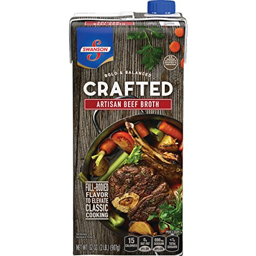 Swanson Crafted Artisan Beef Broth, 32 oz. Carton (Pack of 12)