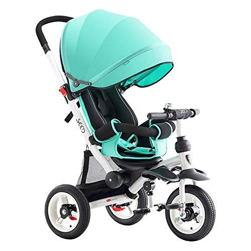 Sdzq Kinderwagen, Liegefahrrad, Kinderdreirad, Fahrrad (Color : Green)