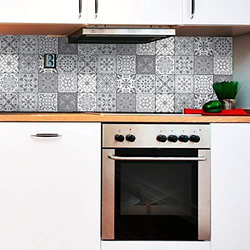 Stickers adhésifs carrelages | Sticker Autocollant Carreaux de Ciment - Mosaïque carrelage mural salle de Bain et Cuisine | Carreaux de...