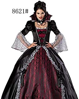 Halloween costume vampire zombie dress Witch Dress Black Queen Costume Party uniform