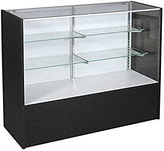Black Display Case (48 inch Full Vision) - Ready to Assemble