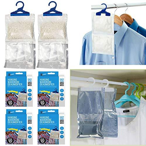 SA 24 x Kleiderschrank-Luftentfeuchter zum Aufhängen, für Schimmel, Feuchtigkeit, Schränke, Zuhause, Büro, Schimmelentferner, Kondensation UK