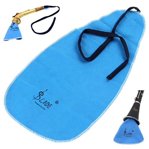 【Early Black Friday】Sax Saxophone Cleaning Cloth, Saxophone Pull Through Swab Instrument Cleaner Cloth, Sax Instrument Cleaner for Flute Oboe Clarinet Saxophone