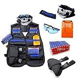 HYZY Traje De Chaleco Táctico De Elite De Bala Suave Equipos Accesorios para Armas De Los Niños Chaleco De Gafas De Máscara De Muñeca Tácticos con Regalos