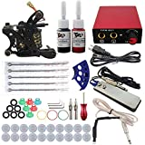 WFWPY Beginner Tattoo Kit 1 Pro Tattoo Machine Gun Power Supply Starter Set Stigma Rotativa Maquina de Tatuaje para tatuadores Profesionales
