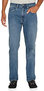 BUFFALO 5 Pocket David Bitton Men's Jackson-X Straight Fit Stretch Denim Jeans Blue 36W x 34L