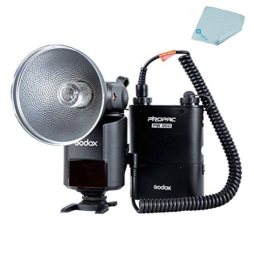Godox AD-360 StreakLight 360 Watt-Seconds Flash Speedlite + PB960 Battery Power Pack Black +Mcoplus Cloth