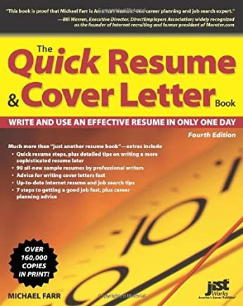 Amazon The Quick Resume Cover Letter Book Write And