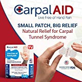 CarpalAID – Clinically Proven to Naturally Relieve Symptoms of Carpal Tunnel Syndrome Without Surgery, and No Side Effects. As seen on TV. NO Brace Required! (Large 80PC)
