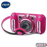 VTech - Kidizoom Duo DX Rose, Appareil Photo Enfant 10 en 1, Filtres Dynamiques