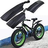 SPLLEADER Schnee Fahrrad Radschützer 20 Zoll 26inch Fat Fahrrad Fender 2ST vorn hinten Spritzschutz for Fatbike MTB Fahrrad Radfahren Fahrrad Fenders