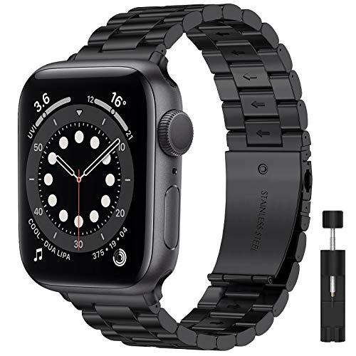LIWIN Armband Kompatibel mit Apple Watch 42mm 44mm 45mm iWatch Series 7 Series 6 Series 5/4/3/SE/2/1 Metall Armbänder, Edelstahl Metall Ersatz Ersatzbänder Ersatzarmband für Damen&Herren