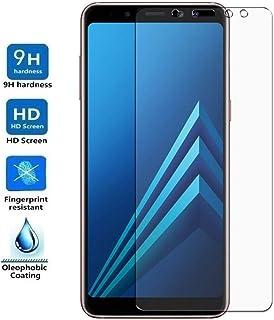 REY Protector de Pantalla Curvo para Samsung Galaxy A6 Plus 2018, Transparente, Cristal Vidrio Templado Premium, 3D / 4D / 5D