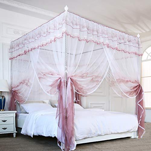 Muggennet vloerconstant prinses bed baldakijn steiger bed mantel 3 deuren anti-moskito vierkant muggennet grote ruimte gezellig