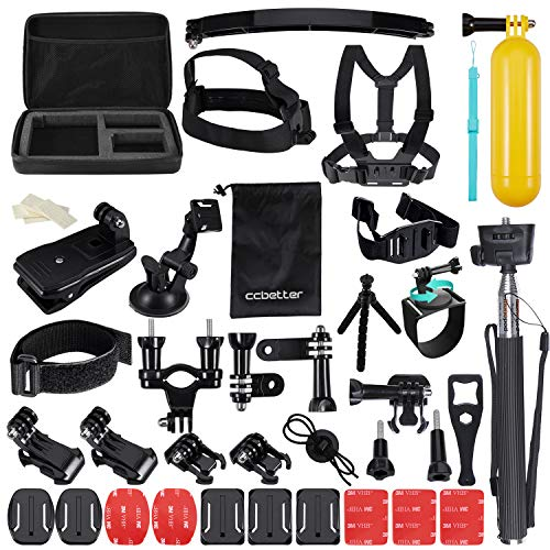Accessori per GoPro, CCbetter 50 in 1 Sport Action Camera per Hero 4 Hero 5 Session Hero 1 2 3 3 + con ccbetter CS710 CS720 W + SJ4000 5000 6000 7000