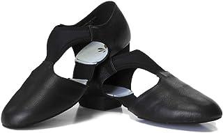 DANCEYOU Sandalias Zapatos de práctica de enseñanza contemporánea con Suela de Gamuza Sandalias de enseñanza de Cuero para...