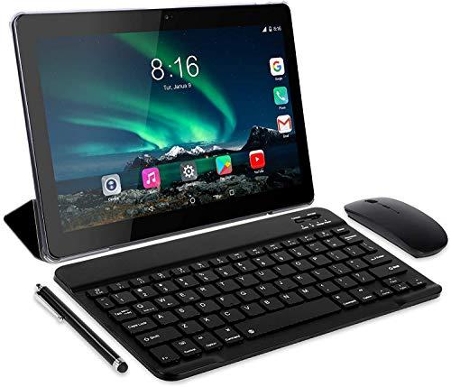 Toscido Tablet 10 Zoll (25.4 cm) 8 Core – Android 10.0 zertifiziert von Google GMS 4G LTE Tablets, 4 GB RAM & 64 GB, Dual-SIM, GPS, Maus, Tablet-Hülle & mehr im Lieferumfang enthalten (grau)
