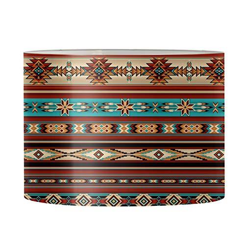Aulaygo Africana tribu étnica Baja estilo lámpara pantalla para lámpara de mesa lámpara de pie lámpara de noche para el hogar marcos de lámpara de 17 x 10.4 pulgadas araña grande duradera