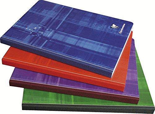 Clairefontaine 9740C - Cuadernos cosidos (Lomo de tela) A5 MAXI interior liso, 192 páginas, 1 unidad, colores surtidos