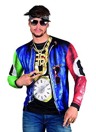 Rapero Gángster Disfraces fotorrealista T-Shirt - Mens extra de gran tamaño , color/modelo surtido
