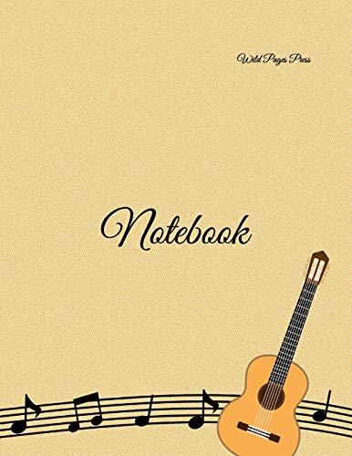 Notebook: Music note digital piano guitar paper sheet music