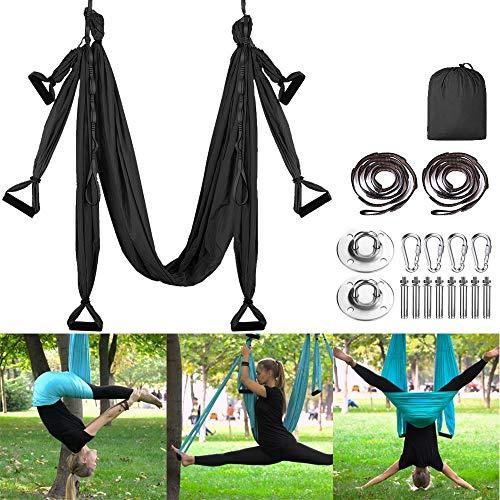 MQSS Antigravity Aerial Yoga Hängematten-Set - Yoga-Schaukel-Set - Yoga-Trapez-Sling-Set...