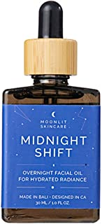 Midnight Shift Overnight Facial Oil by MOONLIT SKINCARE | A Nighttime Face Moisturizer and Natural Sleep Aid | Nighttime Hydrating Facial Oil | 1 fl. oz.