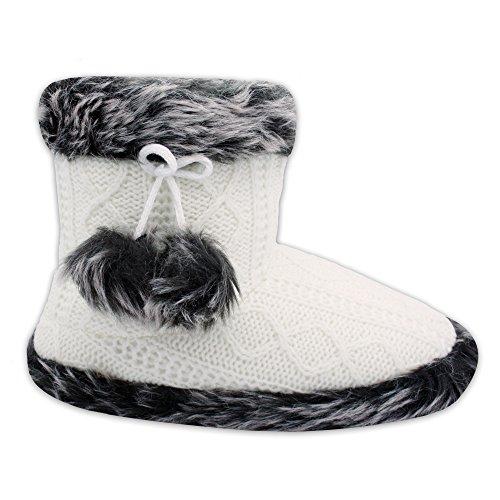 WOP ART, Pantofole Donna Bianco Bianco