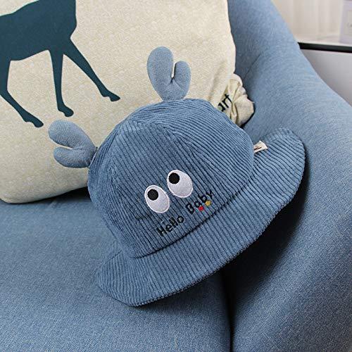wtnhz Artículos de Moda Sombrero para niños Modelos de otoño e Invierno Sombrero de Pescador de Pana para niños Sombrero de Olla para bebé de Dibujos animadosRegalo de Vacaciones