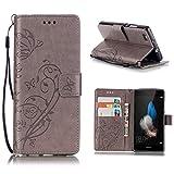KATUMO®Wallet Case Kompatibel mit P8 Lite, Luxuriös PU Ledertasche Handy Etui Kartensteckplätze & Seitenständer Hülle für Huawei P8 Lite/Huawei ALE-L21 Cover Shell
