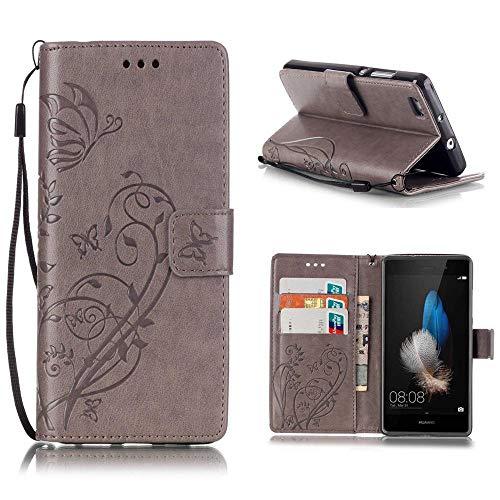 KATUMO®Wallet Case Kompatibel mit P8 Lite, Luxuriös PU Ledertasche Handy Etui Kartensteckplätze und Seitenständer Hülle für Huawei P8 Lite/Huawei ALE-L21 Cover Shell