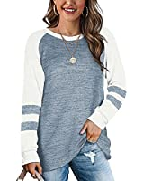 Oversized Crewneck Sweatshirts For Women Long Sleeve Tunic Sweatshirts For Leggings