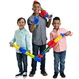Boley 5 Barrel Water Blasters - 4 Pk Big Size Super Soaker Water Gun Set for Kids - Swimming Pool Toys for Kids Ages 3+