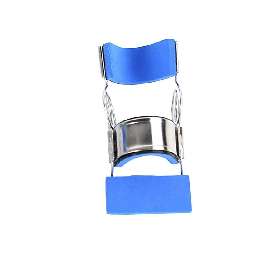 シリング配列休暇Healifty ステンレス鋼指の添え木可動式まっすぐ指保護スリーブサイズL