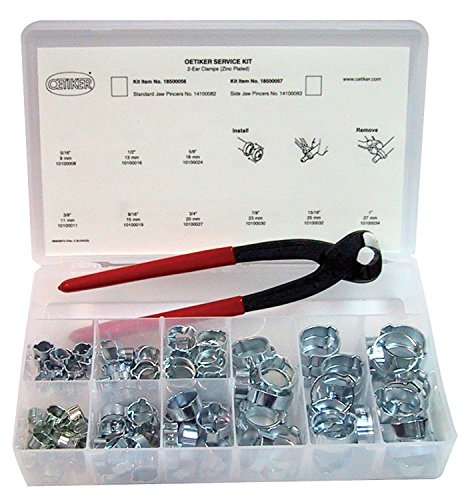 Oetiker 18500056 Service Kit (2-Ear Clamps, zinc plated with standard jaw single action pincers)