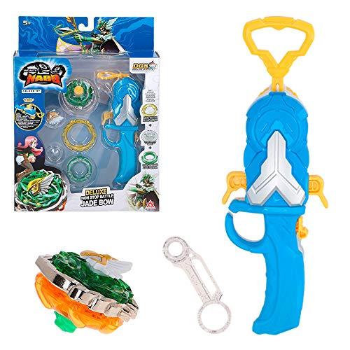 Infinity Nado - Peonza 5 Jade Bow con lanzador magnético giratorio (85365)