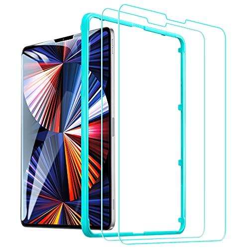 ESR Protector de Pantalla Cristal Templado para iPad Pro 12,9 2021/2020/2018,Compatible Face...