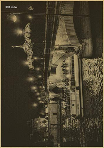 Carteles de Cine Antiguos Foto romántica La Torre Eiffel en París Francia Edificio de Personajes Retro Lienzo Adorno Cartel de Pared 30x21cm