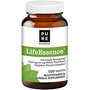 Pure Essence Labs LifeEssence Multivitamin for Women and Men - Natural Herbal Supplement with Vitamin D, D3, B12, Biotin - 120 Tablets