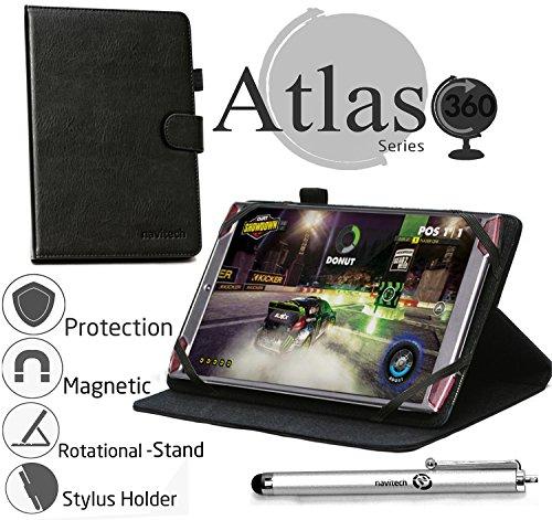 Navitech 8 Zoll rotierbares bycast Leder Case / Cover in Schwarz für das Acer Predator 8 Gaming Tablet