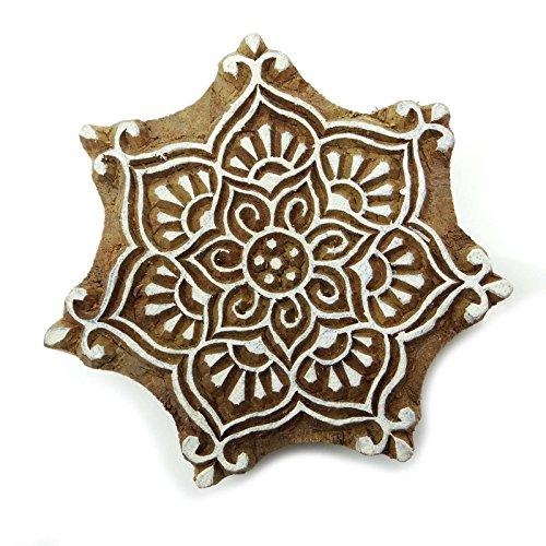 Knitwit Dekorative Blumendruck Blöcke Hölzerne Hand geschnitzten Block Indische Stempel