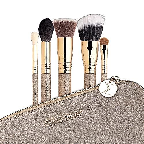 Sigma Beauty Radiant Glow Makeup Brush Set   Full Face Set, Ultra Soft Fibers