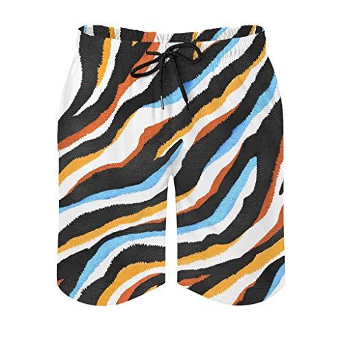 Ouniaodao Mens Skin Texture Swim Short Loose - Pantalones cortos